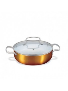 Ceramic Coating Copper Finish Casserole With Lid